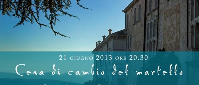 Il passaggio delle consegne si terrà a Castelbrando venerdì 21 giugno