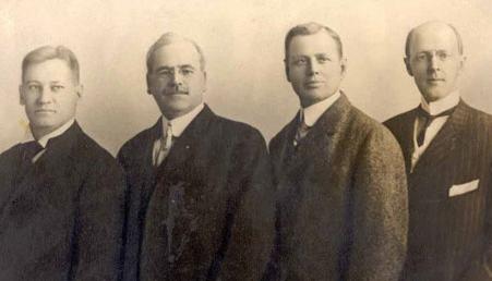 Paul Harris con gli altri fondatori del primo Rotary Club